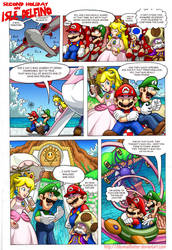 Mario Comic: Second Holiday on Isle Delfino Pg 1 by DibuMadHatter