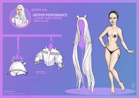 [New] Lady Gaga Paper Doll: ARTPOP at Tonight Show by DibuMadHatter