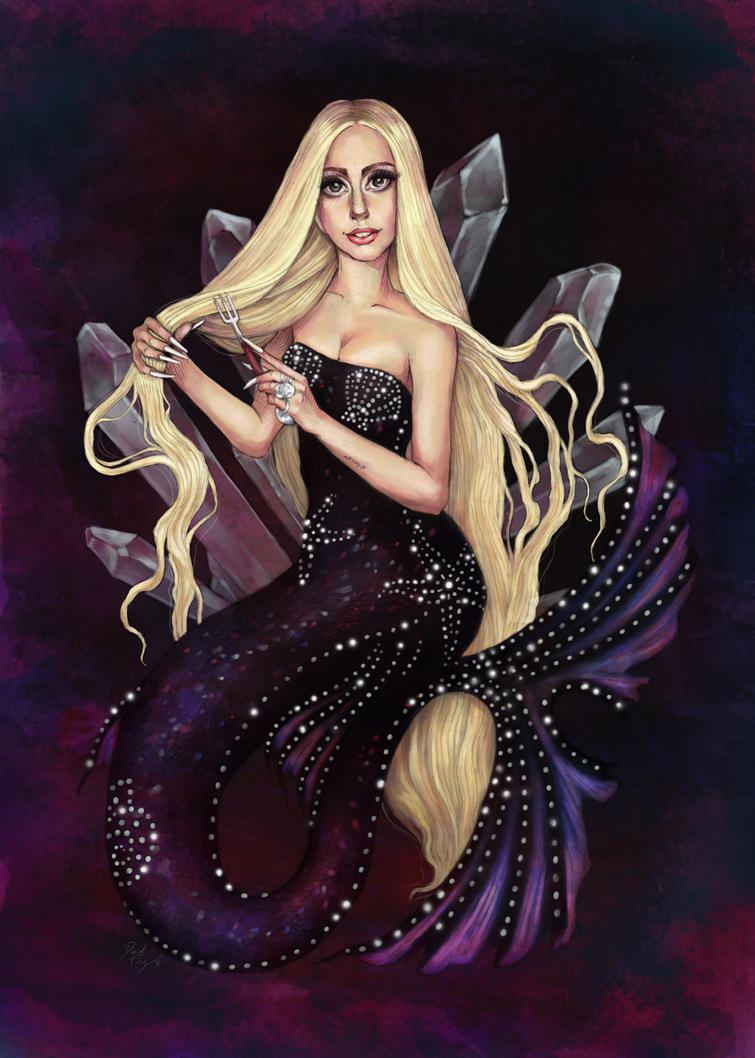The Singer of the Fork - Versace Mermaid by DibuMadHatter
