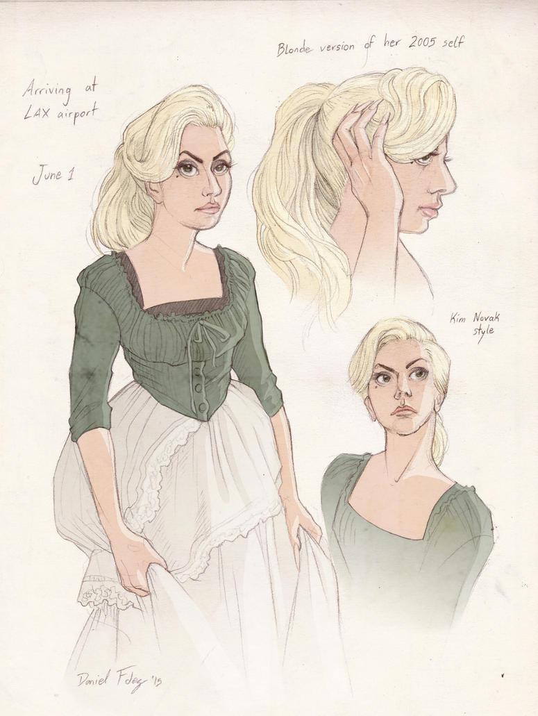Gaga sketch 06-01-15 by DibuMadHatter