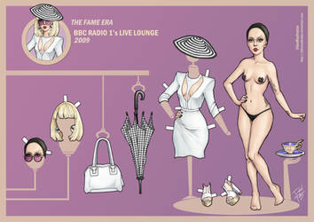 Lady Gaga Paper Doll: BBC Radio 1 Live Lounge 2009 by DibuMadHatter