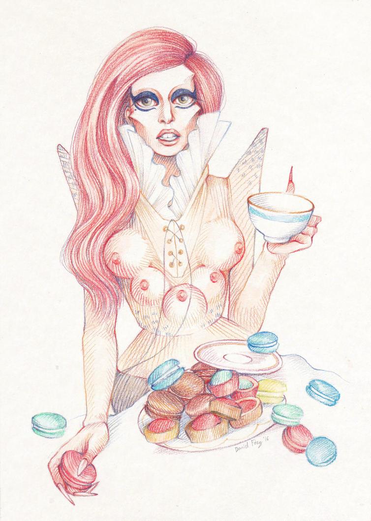 Alien Goddess' tea time by DibuMadHatter