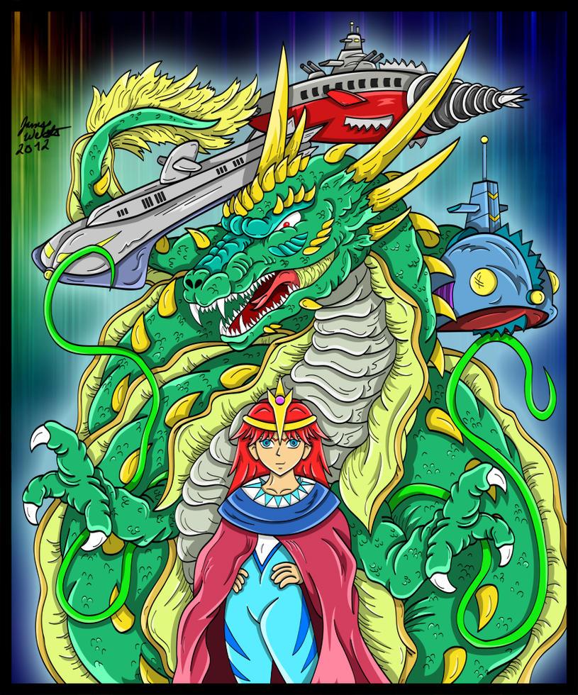 Manda - Serpent God of the Mu Empire by earthbaragon