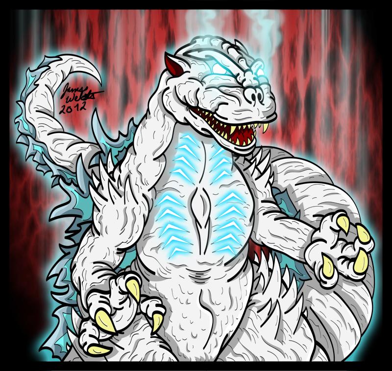 Ghost Godzilla - Spirit of the Past by earthbaragon