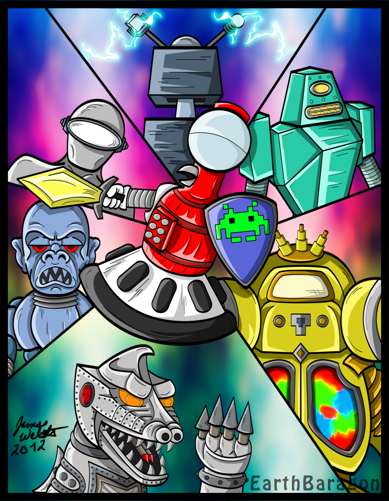 tom servo and mechagodzilla charge of the robots by