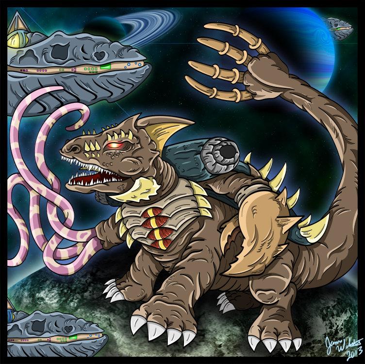 Cykor - The Undying Kaiju by earthbaragon