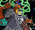 Godzilla And His Foes
