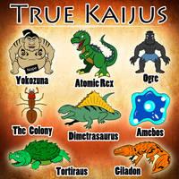 Atomic Rex Book 1 - The True Kaijus by earthbaragon