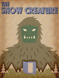 The Snow Creature 1954 - Minimalist Poster by earthbaragon