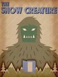The Snow Creature 1954 - Minimalist Poster