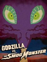 Godzilla vs Hedorah Minimalist Style Poster