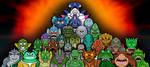 Mermen Monsters of Fiction by earthbaragon