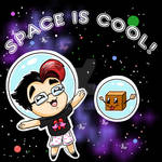 Space Is Cool tshirt design