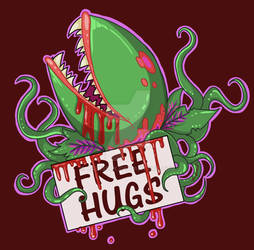 Audrey 2 Free Hugs Tshirt design