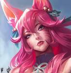 Study of painting in the style of Lol Ahri
