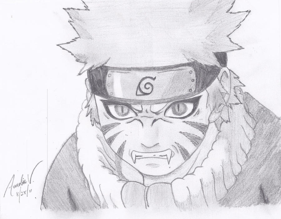 Naruto pencil sketch by aureliadominiquevida