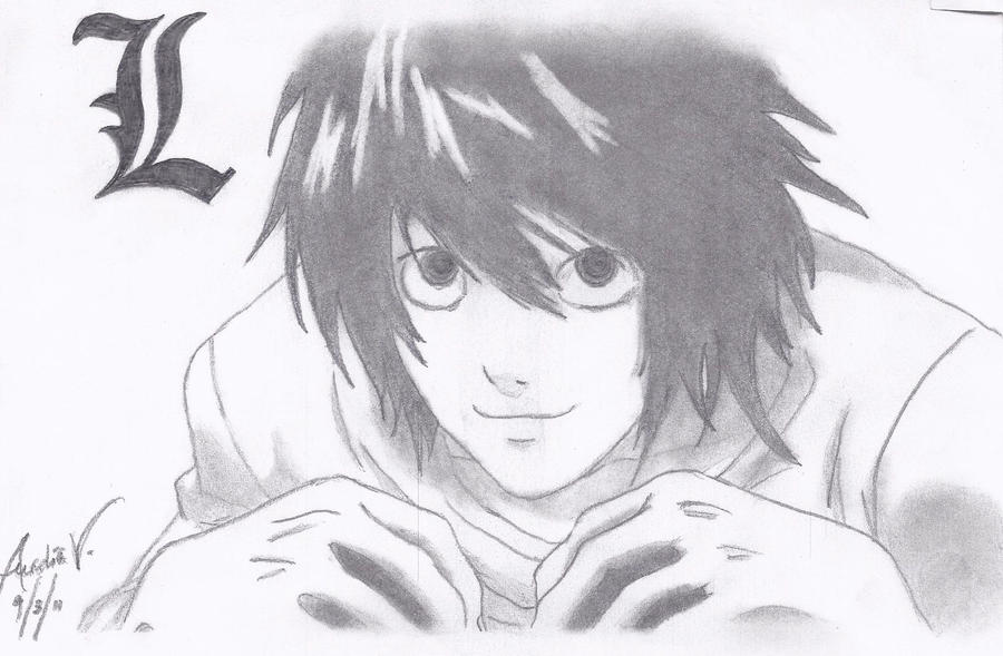 Go Back   Galler...L Death Note Drawing