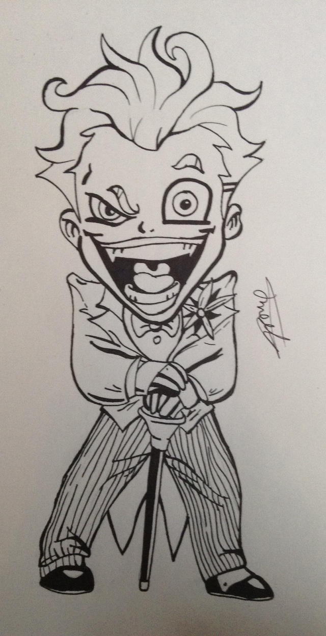 The joker cartoon outline by cy6erwolf on deviantart the joker cartoon outline by cy6erwolf voltagebd Images