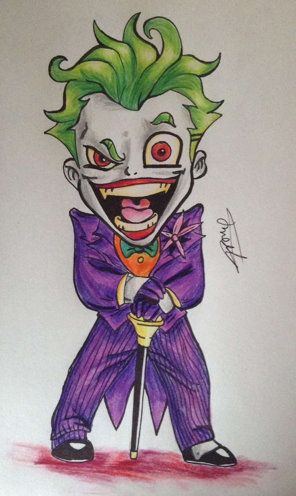 Joker Scribble Drawing : The joker cartoon by cy erwolf on deviantart