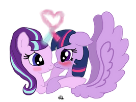 Starlight Glimmer and Twilight Sparkle (Twimer) by Flutter-Cat