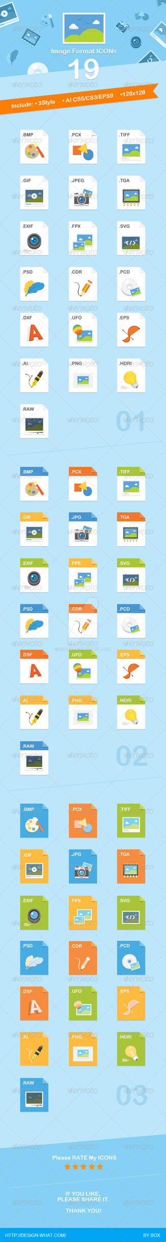 19 Image Format Icons by 90Box