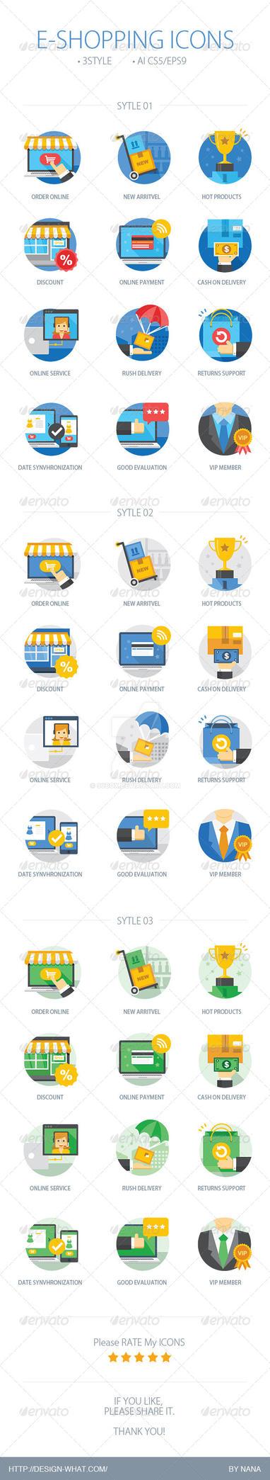 E-Shopping Icons by 90Box