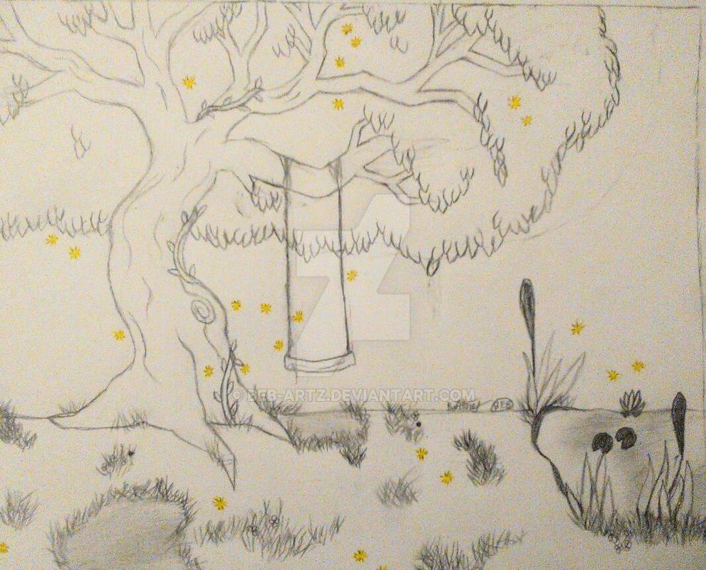 magical tree drawing by BEB-Artz