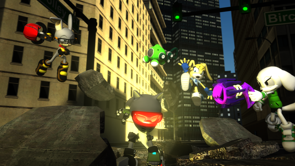 Robo Sonic attacks by SonicTFMLP123