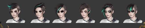 Shadow Warrior 2: Kamiko - face concepts by Harpiya