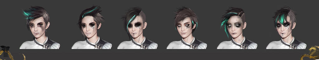 Shadow Warrior 2: Kamiko - face concepts