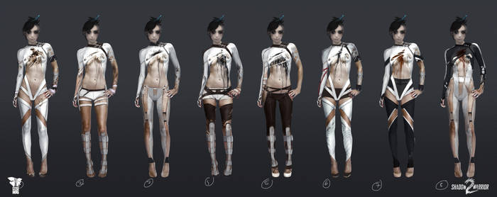 Shadow Warrior 2: Kamiko - outfit concepts v1 by Harpiya