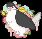 Sir Loki (Lahore Pigeon) by Mary-fflufybird