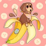 Banana Dachshund by Mary-fflufybird