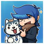Vari with his Husky