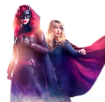 Supergirl and Batwoman PNG