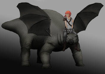 Tirri and her Dragon by xsycogoat