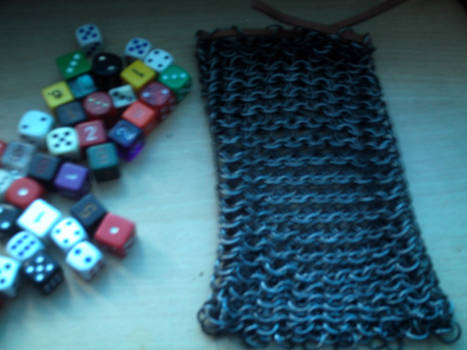 Chainmail dice bag 2