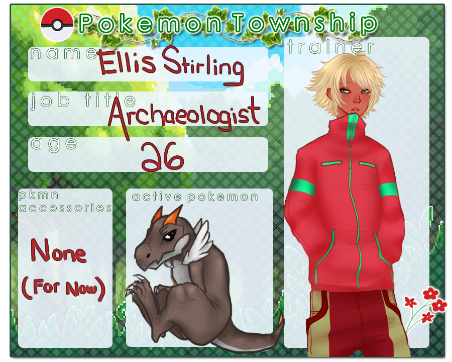 Pokemon Township App - Ellis Stirling by Sunlitrains