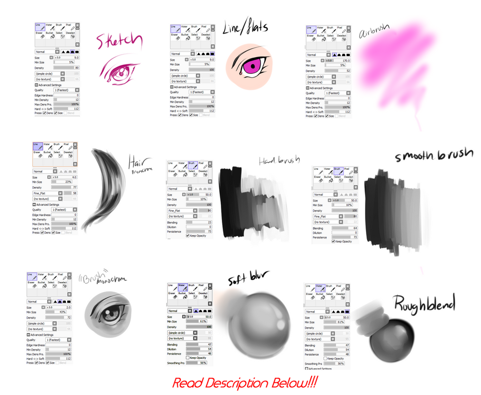 How To Draw Blood Paint Tool Sai