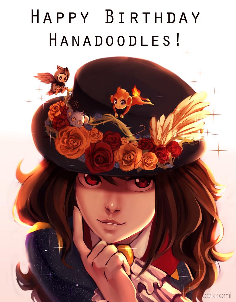 Happy Birthday Hanadoodles! by bekkomi