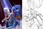 JhinSona Art Trade-Collab-Thing with Hattershiara!