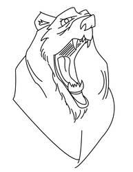 Bear Roar lines by HealyAnimation