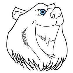 Bear Head by HealyAnimation