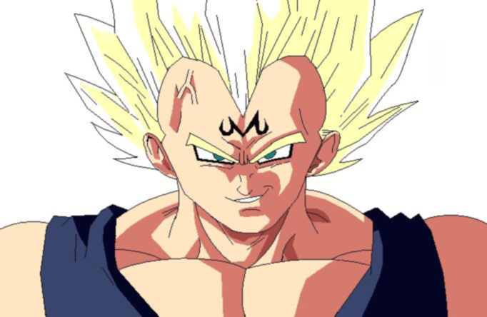 Majin Vegeta MS Paint by DOGGMAFFIA
