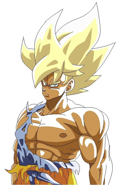 Goku Enraged SSJ MS Paint by DOGGMAFFIA