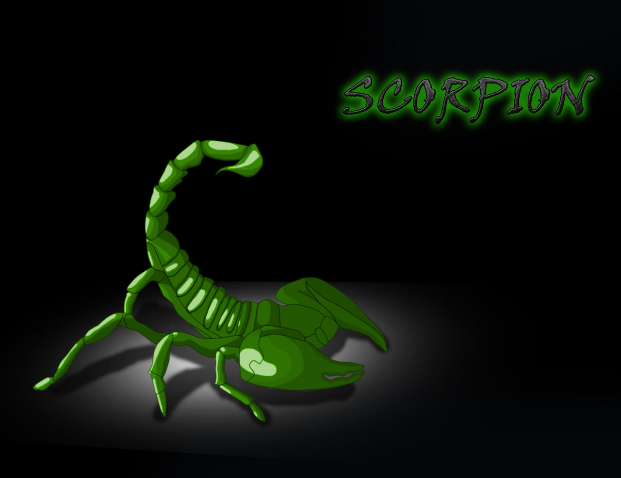 Green Scorpion Wallpaper by DOGGMAFFIA