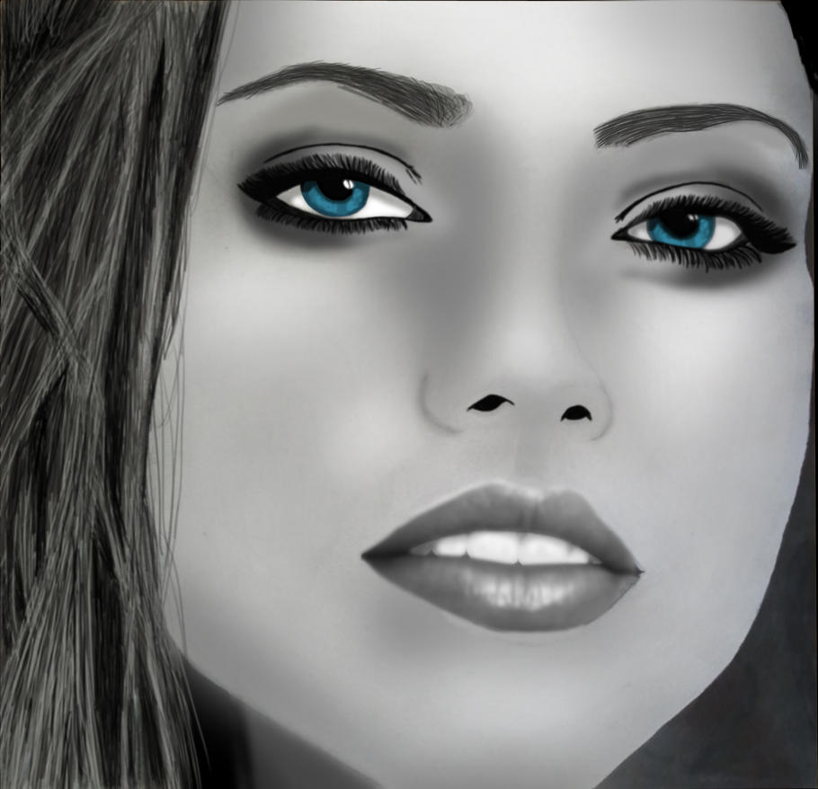 Adriana Lima Portrait by DOGGMAFFIA