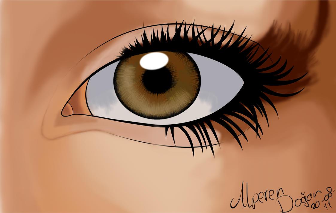Realistic Manga Eye by DOGGMAFFIA