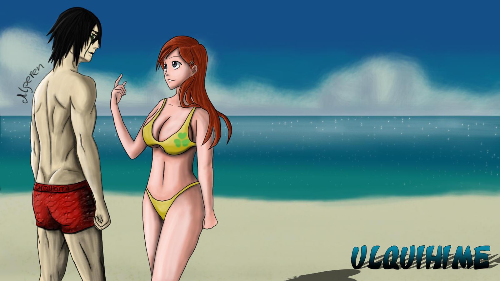 Ulquihime on the Beach by DOGGMAFFIA