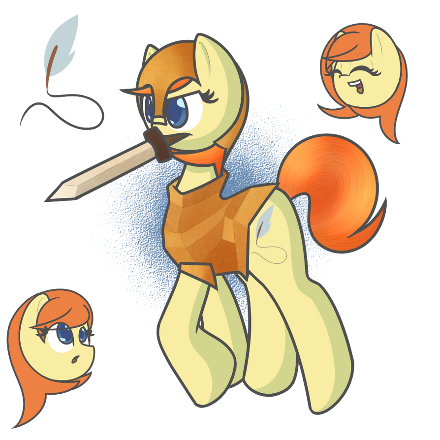 Orange 'Warrior' Pie by TastyPony